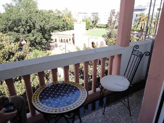 Royal Hotel Rabat: Balcony view