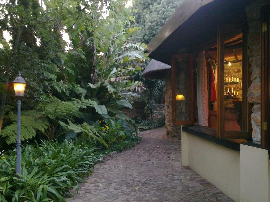 Idwala Boutique Hotel Johannesburg: The main walkway into the guest house