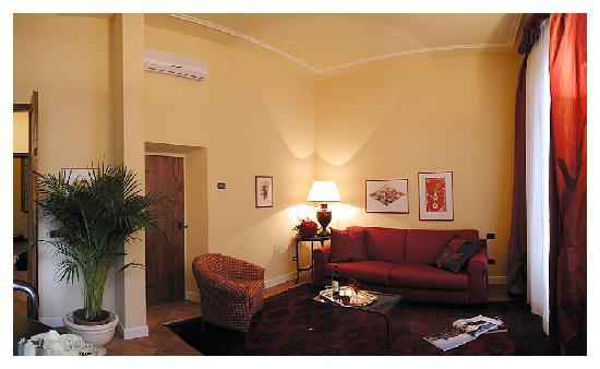 Palazzo Alfani al David: living room superior apt