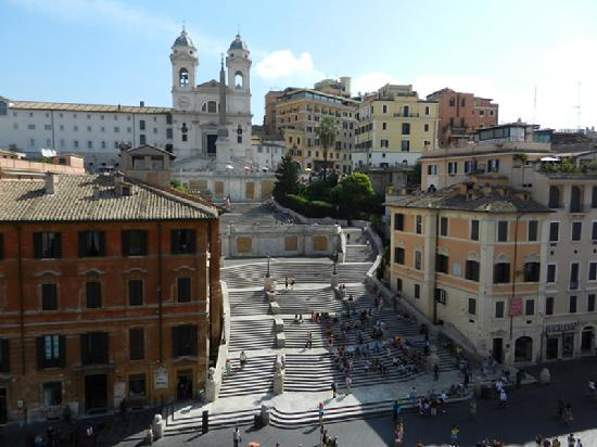 The View At The Spanish Steps - Small Luxury Hotel: View from the room's window