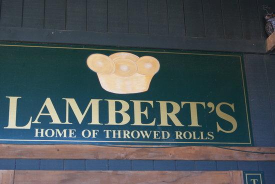 Lambert's II: Lambert's sign