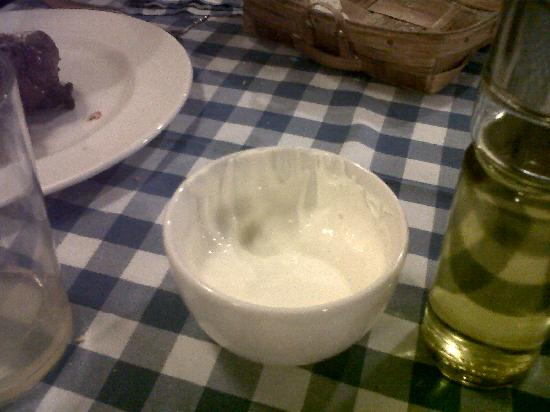 La Gabarra: The best part of the meal: the mayonnaise!!