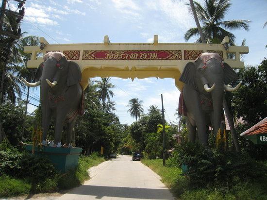 Ko Samui, Thailand: The front of the Elephant Gate marking the turn off from the main 4170 road