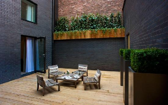 The Nadler Liverpool: The outdoor deck in the Secret Garden Suite at base2stay Liverpool Hotel