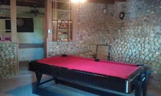 The Retreat at Miller's Landing : Game room at the Retreat.  Pool, checkers/chess, foosball, darts, board games