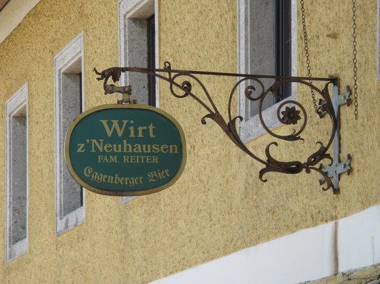 Wirt z' Neuhausen: Gasthaus-Schild