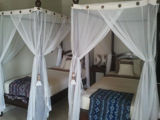 Puri Wirata Dive Resort and Spa Amed: Camas gemelas