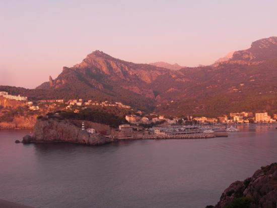 Sóller, España: from the mountain restaurent in the north west of the port