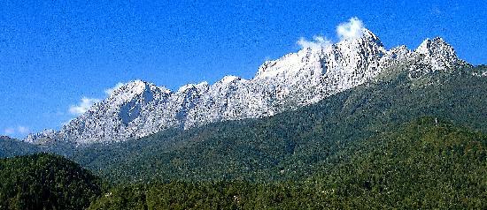 Albergo Ristorante Edera : Vista dalla stanza verso monte Agner