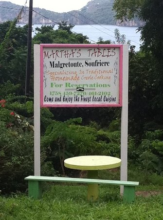 Martha's Tables: Martha's Table, Soufriere