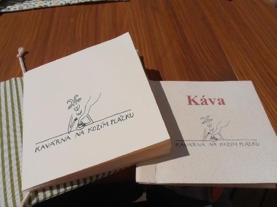 Kavarna na kozim placku: the menu