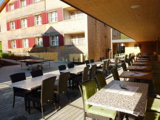 Alpenhotel Post : Aussenterasse