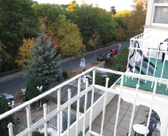Hotel Wildunger Hof: Wildunger Hof - Blick aus Zimmer 207