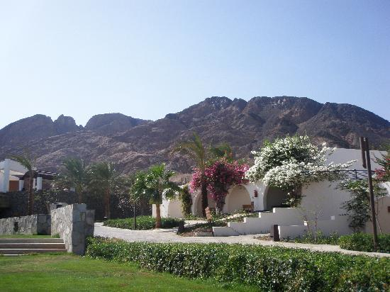 Le Meridien Dahab Resort: the rooms and the mountains behind