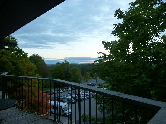 Bellaire, MI : early morning view from balcony