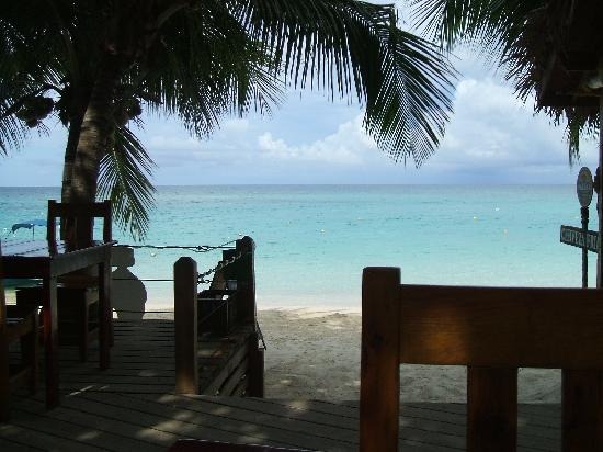 Bananarama Beach and Dive Resort: Breakfast View w/ coffee