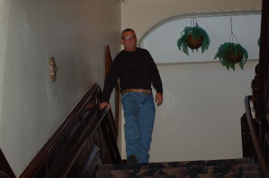 The stairwell at the Inn
