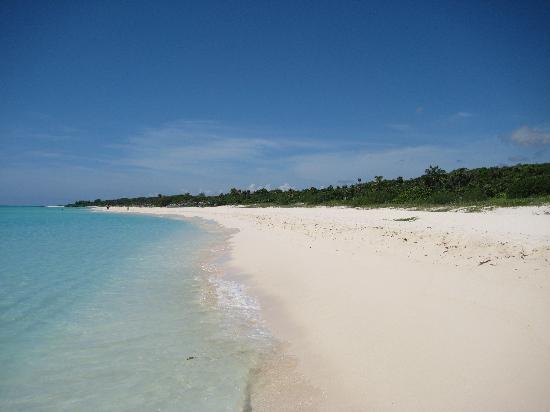 Hotel Riu Playacar: walk from the hotel to an undeveloped natural beach, approx 30 min walk