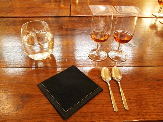 Remy Martin: Prepared for our tasting!