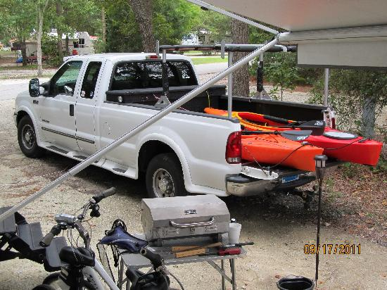 James Island County Park: Our Camping spot