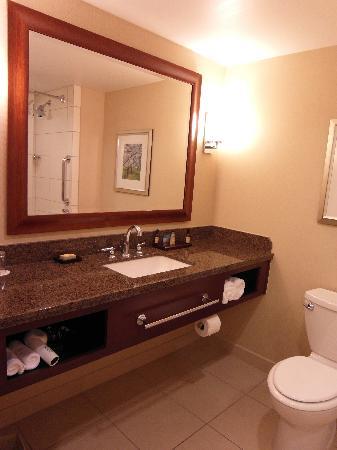 ماريوت ماكون سيتي سنتر: Room 507-- huge bathroom!