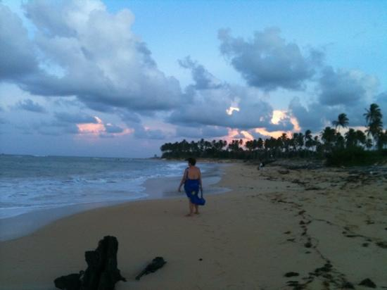 Dreams Punta Cana Resort & Spa: walking by the beach
