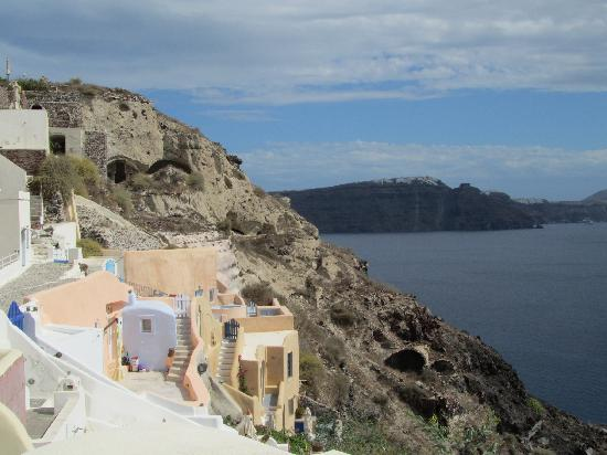 View of the caldera from Casa Sofia apartment terrace