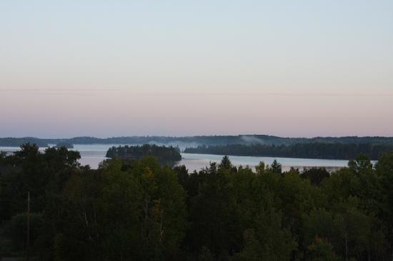 Grand Ely Lodge: View of the lake from dinner