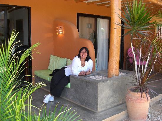 Posada Yemaya : En la entrada de nuestra habitación!