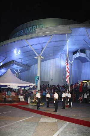 Underwater World Langkawi: flag 'rising ceremony'