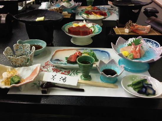 Ryokan Biyunoyado: Just a small portion of dinner and what to expect