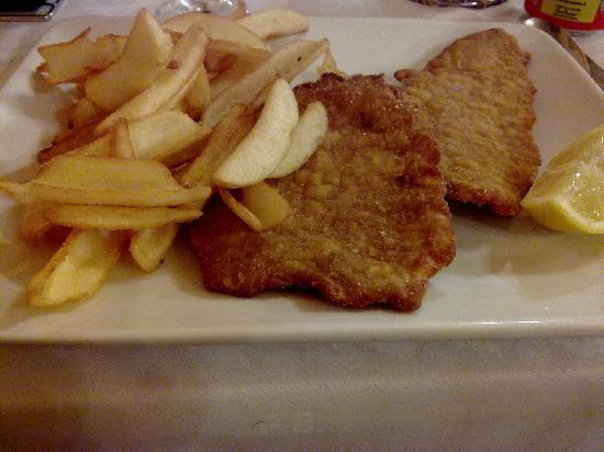 Ai Gabbiani : Milanese con patate fritte