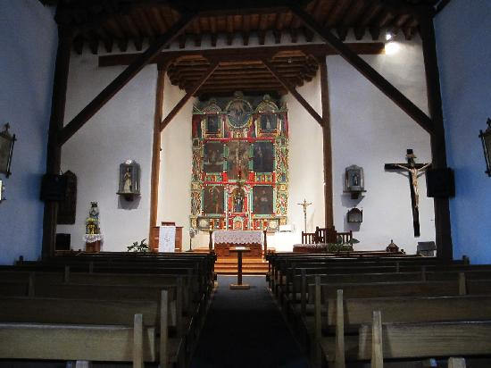 Ranchos De Taos, NM: inside the chapel