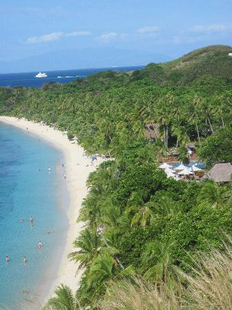 Mana Island Resort: View from lookout point