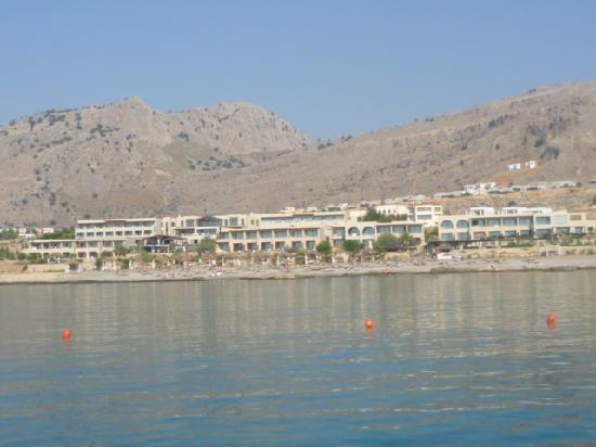 AquaGrand Exclusive Deluxe Resort: view of the hotel from the sea
