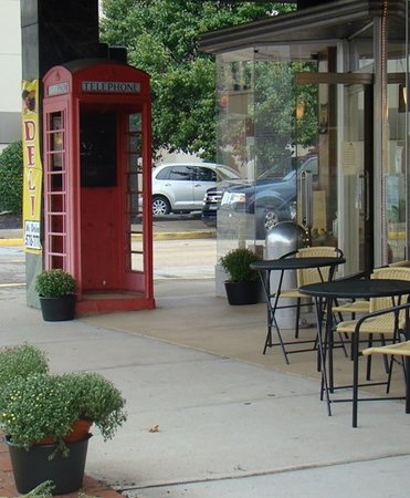 Korner-Copia: Our landmark: The phone booth out front!
