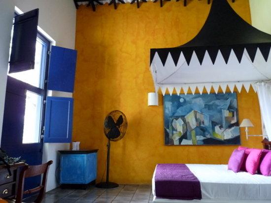 Club Villa: notre grande chambre vue sur la mer