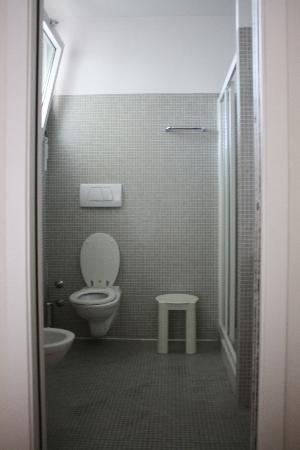 Igea Suisse Hotel Terme: Il bagno, non visibile a destra c'è la doccia