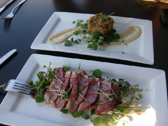 The Brasserie on St John Street : Smoked Duck Breasts & Crab Cake