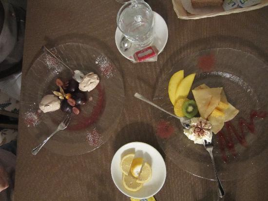 Grichting & Badnerhof Swiss Q Hotel: tasty desserts :)