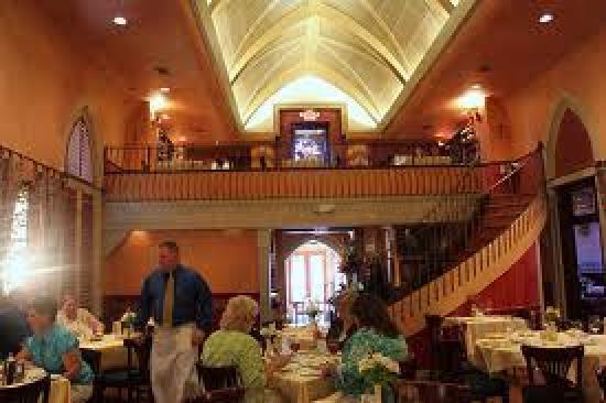 Mark's American Cuisine: Interior view, w/ loft shown
