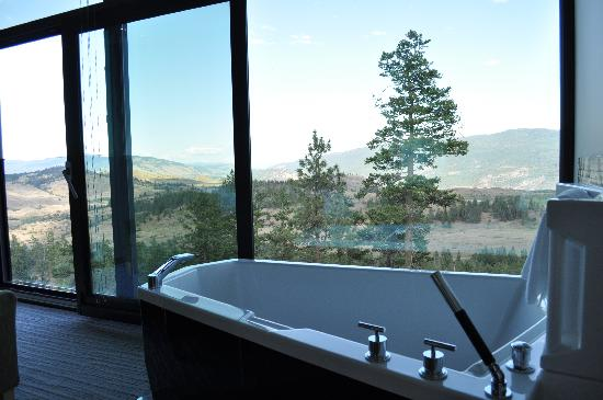 Sparkling Hill Resort: A bath with a view