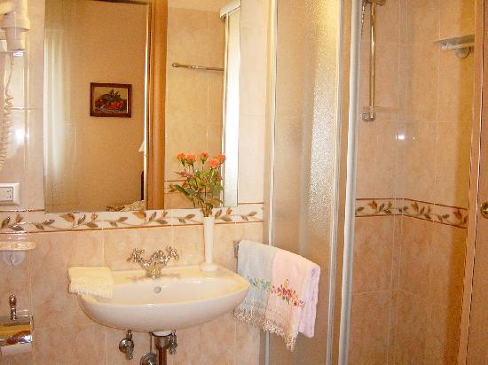 Bagno della camera verde con box doccia in cristallo - Foto bagni con doccia ...