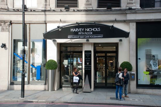 entrance to the store picture of harvey nichols london tripadvisor. Black Bedroom Furniture Sets. Home Design Ideas