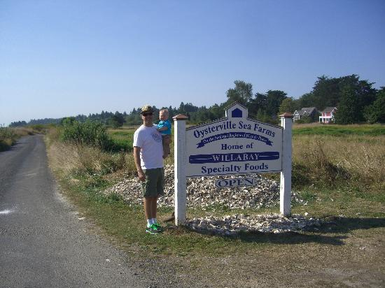 Oysterville, WA: The Sign