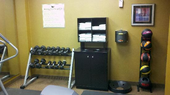 Homewood Suites by Hilton Cincinnati-Milford: Weights and medicine ball area in work out room
