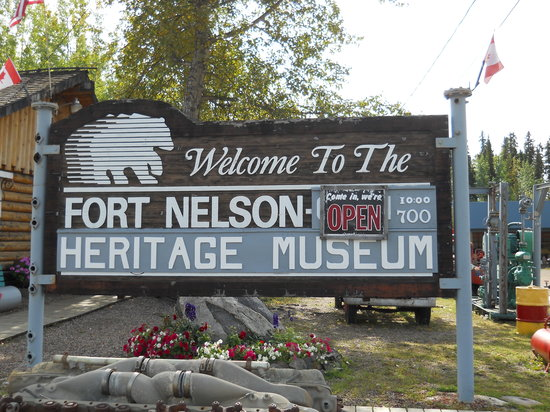 Fort Nelson Heritage Museum: entrance sign to the museum