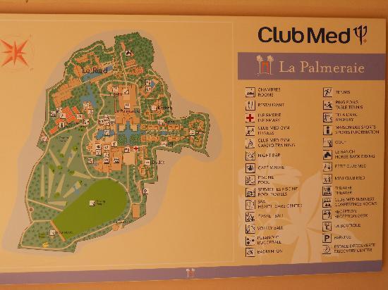 Club Med Marrakech La Palmeraie: map of the resort