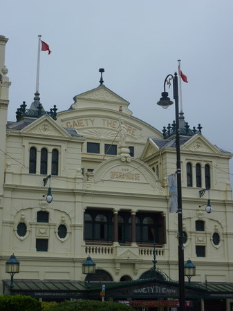 Gaiety Theatre: Outside of the theatre, from the main sea front