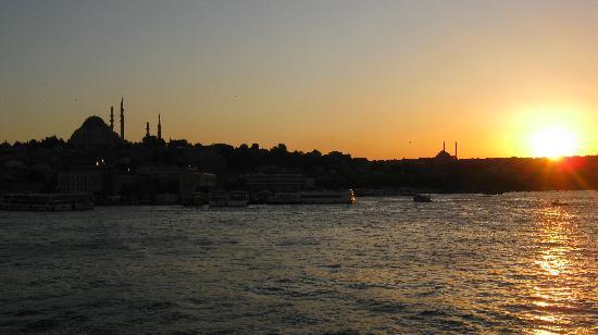 Pasha Moda Hotel : Istanbul au coucher du soleil